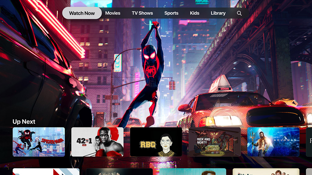 Apple TV app Watch Now