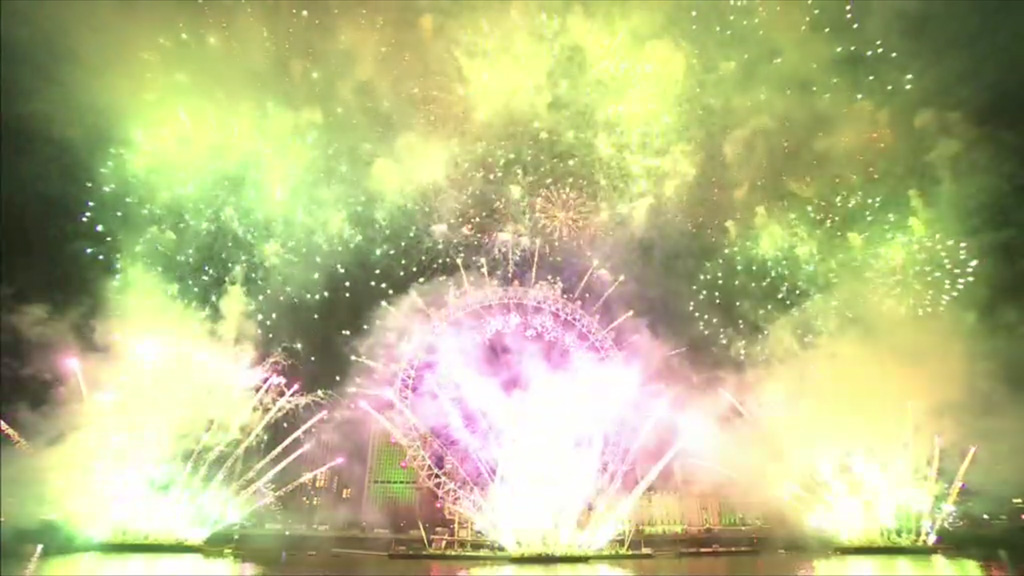New Year fireworks London. Source: BBC One HD