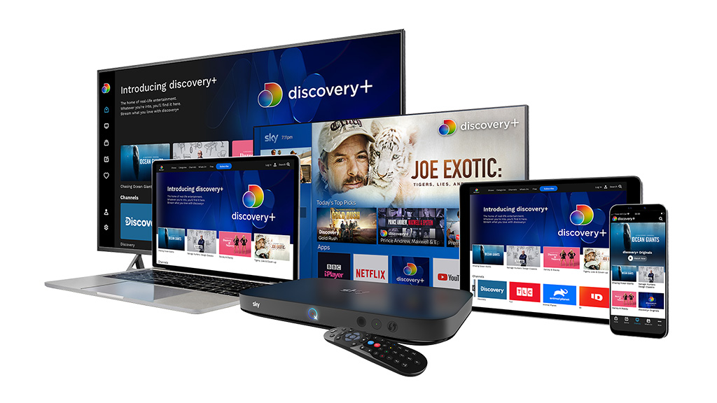Discovery+ promotion with Sky Q