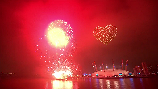 2021 New Year fireworks. Image: BBC