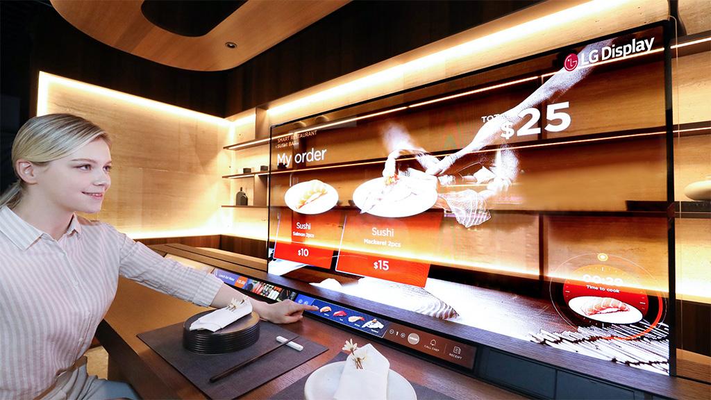 LG Display translucent screen