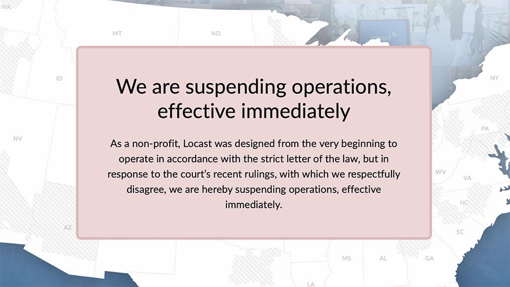 Locast suspension